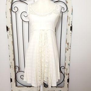 Element ivory cotton lace dress size small